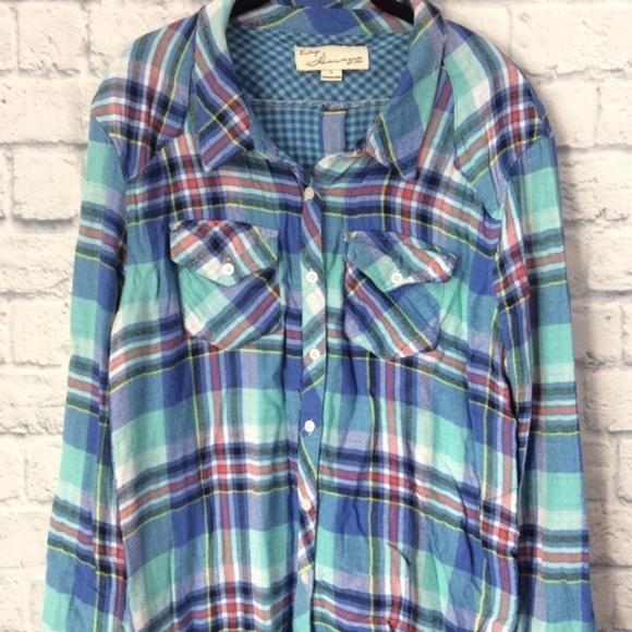 c759cb000 Vintage Havana Tops | Button Down Flannel Size Large | Poshmark